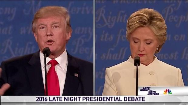 [NATL] 'Late Night': Presidential Debate Between Clinton & Trump