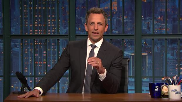'Late Night': Meyers Gets Real With Clinton About Her Book