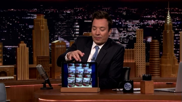 [NATL] 'Tonight Show': Screen Grabs of 'Lonodn' Souvenir Mugs, Black Oak Arkansas