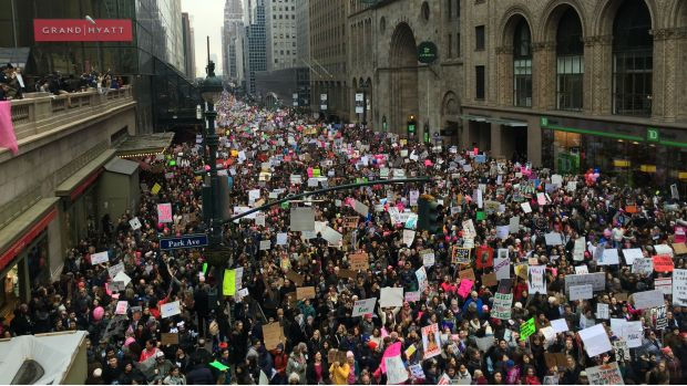 In Pictures: Thousands Attend Women's March on NYC