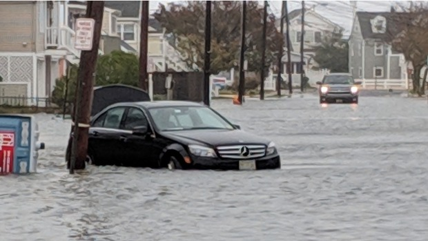 Streets Flooded, Trees Down in Weekend Nor'easter