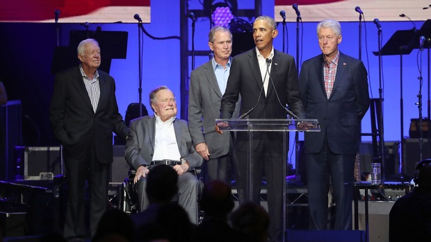 Top Celebs: Former Presidents Unite for Hurricane Relief