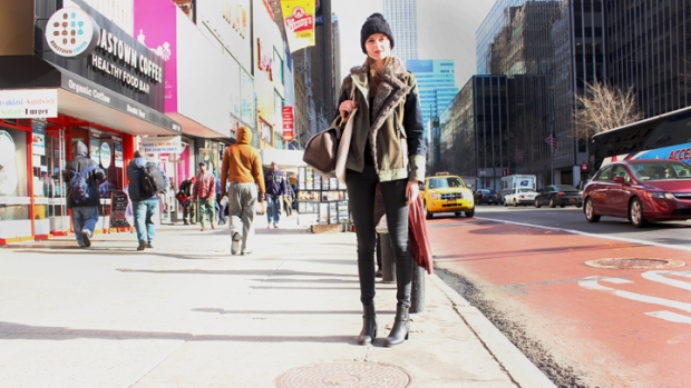 Street Style: Vasilisa on 34th and Eighth Avenue
