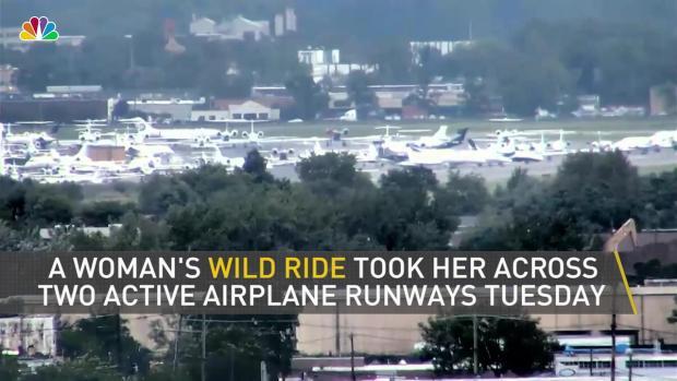 [NY] Woman Drives Over 2 NJ Airport Runways, Ditches Car and Runs