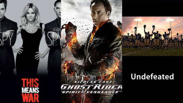 "This Week's New Movies: ""Ghost Rider"" or ""This Means War""? Go ""Undefeated"""