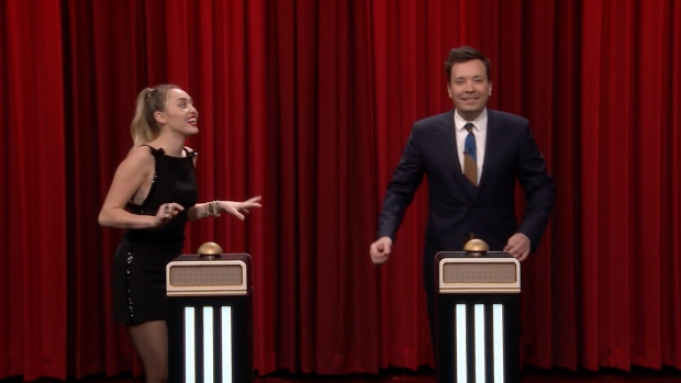 [NATL] 'Tonight': Name That Song Challenge With Miley Cyrus