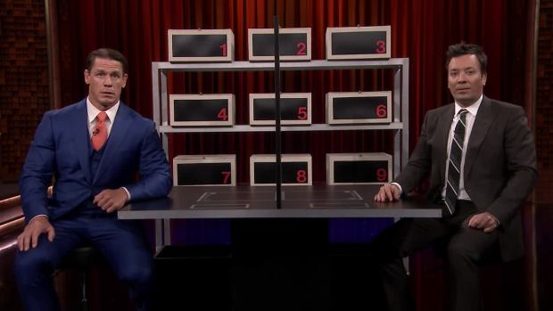 [NATL] 'Tonight': Jimmy and John Cena Play 'Box of Lies'