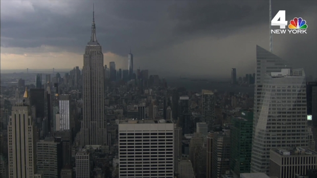 Menacing Clouds Darken Top of the Rock Cam