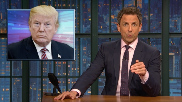 [NATL] 'Late Night': A Closer Look at Trump Dealing With Russia, Michael Cohen Bombshells
