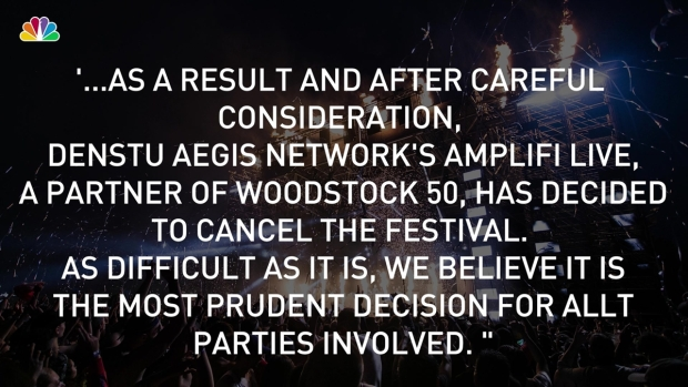 [NY] Is Woodstock 50 Canceled? Organizers Disagree
