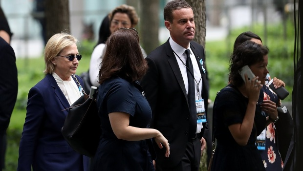 [NY] Clinton Attends 9/11 Anniversary Service at Ground Zero