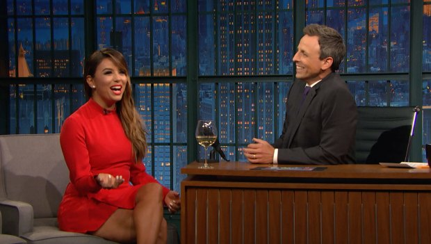 [NATL] 'Late Night': Eva Longoria Dishes on Serena Williams' Baby Shower