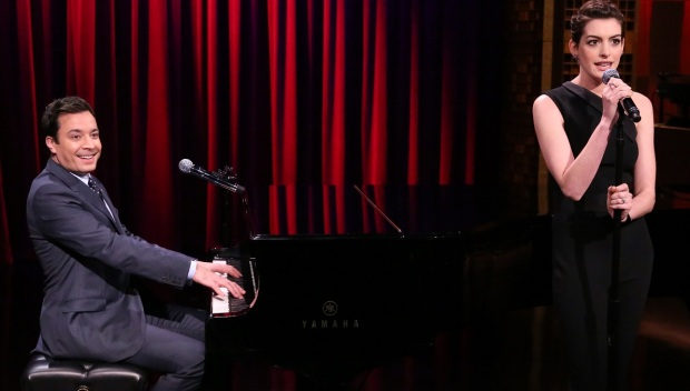 [NATL] Fallon, Hathaway Sing Broadway Versions of Rap Songs