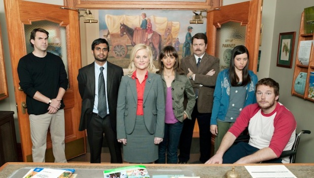 """On the Set of """"Parks and Recreation"""""""
