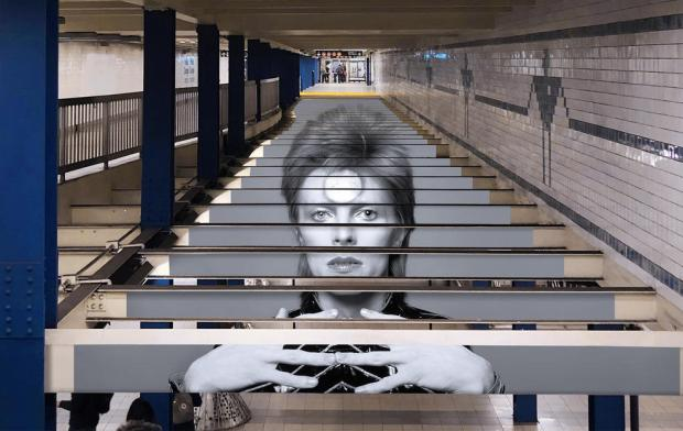 David Bowie Art Installation Takes Over NYC Subway Station