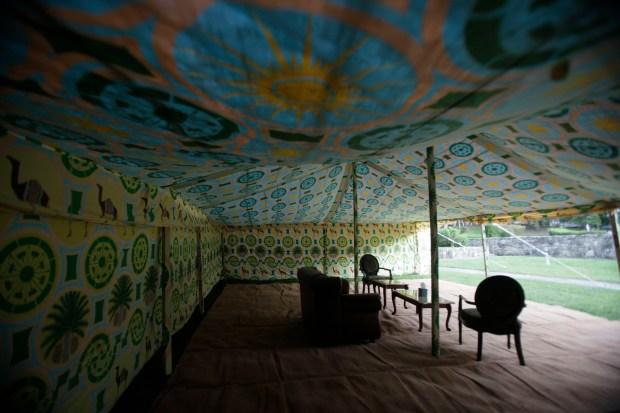 Come Inside Khaddafy's Tent