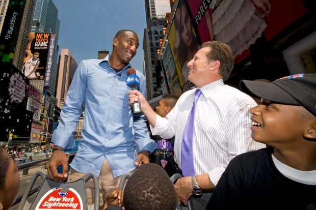 Amare Stoudemire's Times Square Debut
