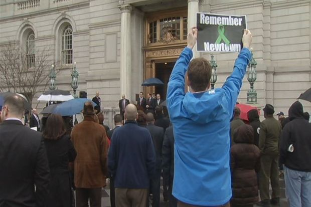 [HAR] Gun Rally At Hartford City Hall As Newtown Documents Released