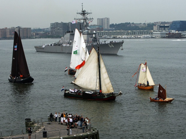 Ships Swarm Hudson for 400th Anniversary