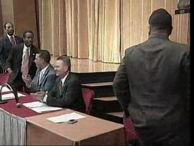 [NY] State Senators Hiram Monserrate and Malcolm Smith Meet At Press Conference