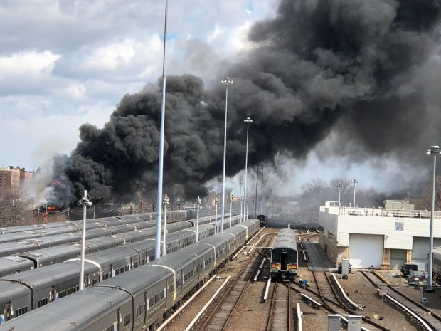 LIRR Service Suspended 'Until Further Notice' Due to Fire