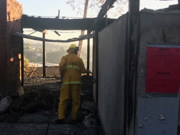 [NATL LA] In Photos: Brush Fire Burns in the Sepulveda Pass Near Getty Center