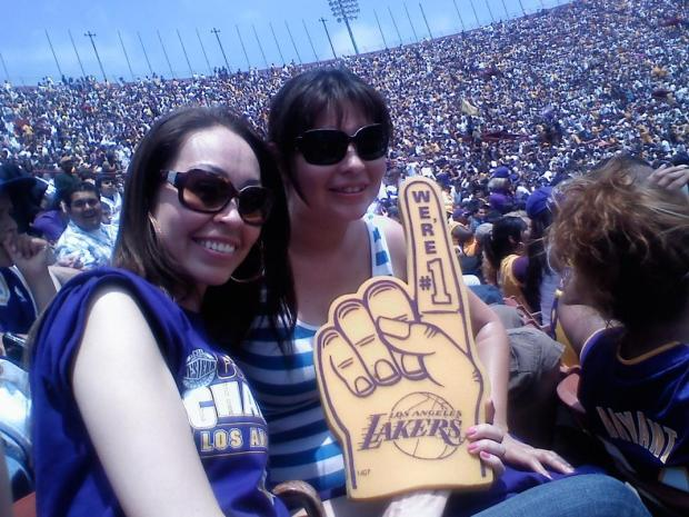 Viewer Images: Lakers Celebration