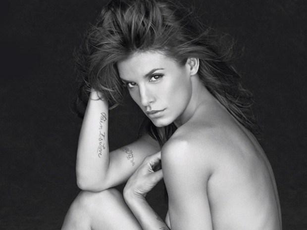 [NATL] Bare-It-All PETA Ads: Elisabetta Canalis' Sexy Shoot
