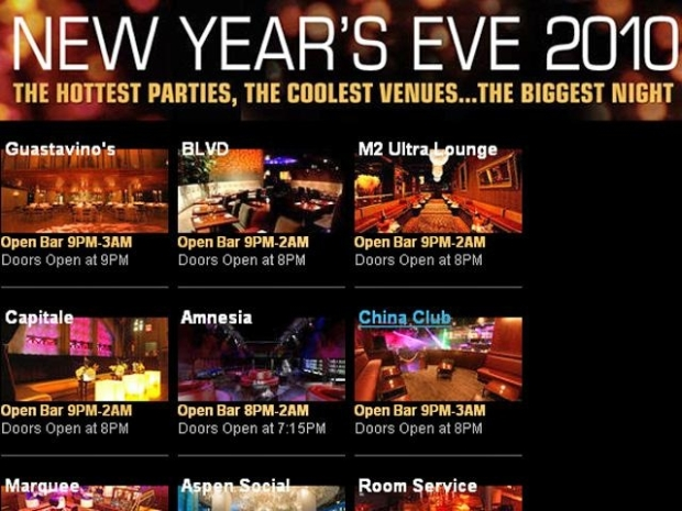 [NY] NYC's Hottest New Year's Eve Parties