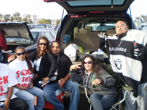 Raiders Niners Tailgate Party