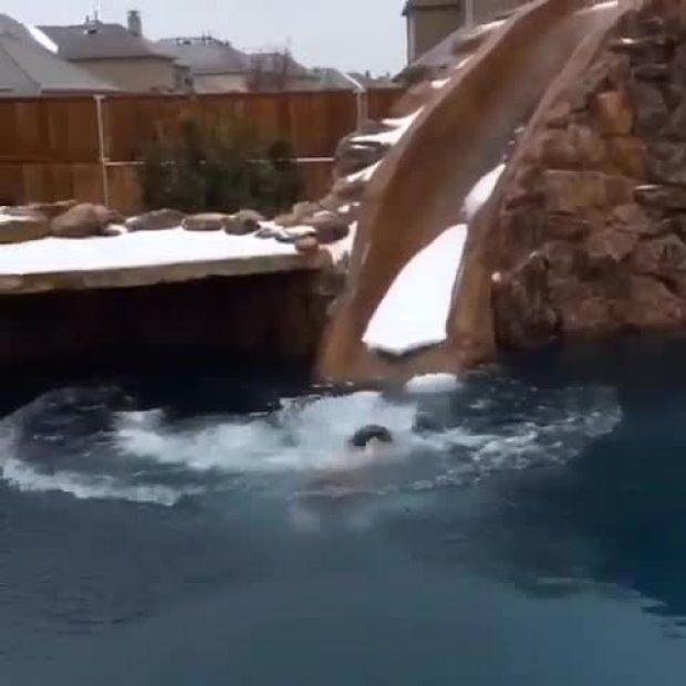 Took a dip in the pool