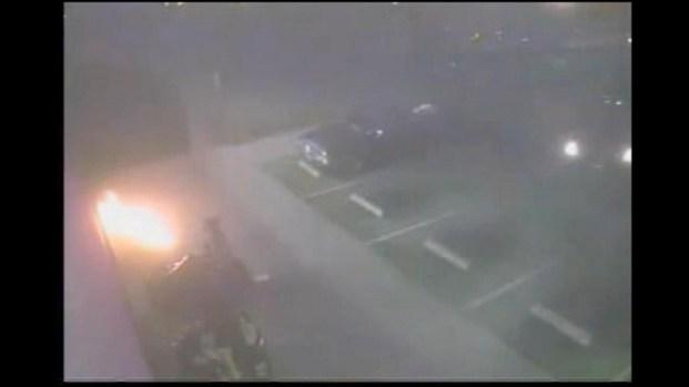 [LA] Raw Video: Firebomb Attack in Long Beach