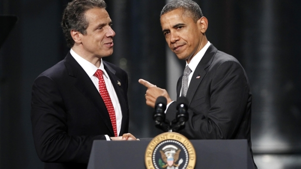 [NY] President Obama Visits Albany With Cuomo