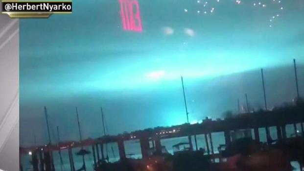 Blue Light Floods NYC Sky as Transformer Bursts Into Flames
