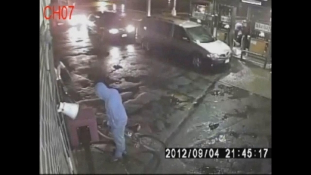 [NY] Surveillance Video of Gas Station Killer