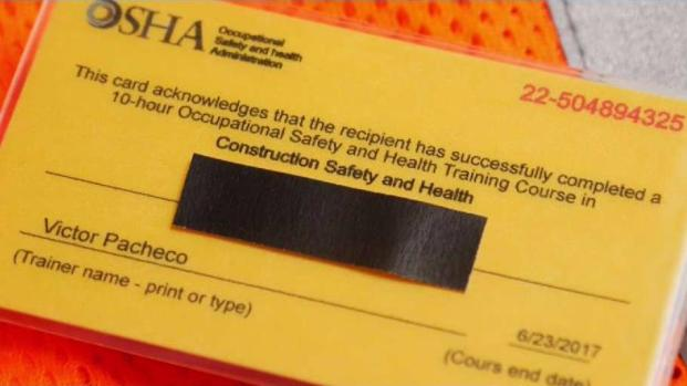 [NY] I-Team: Fake OSHA Cards Put Construction Workers at Risk