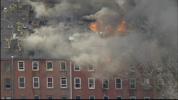 [NY] Firefighters Battle 4-Alarm Jersey City Blaze