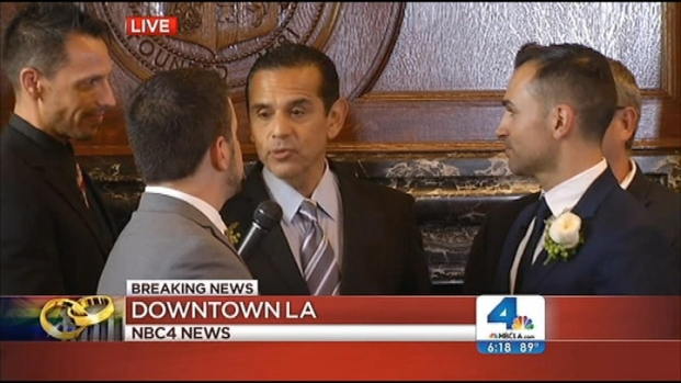 "[LA] Villaraigosa Marries Prop 8 Plaintiffs: ""Your Wait Is Finally Over"""
