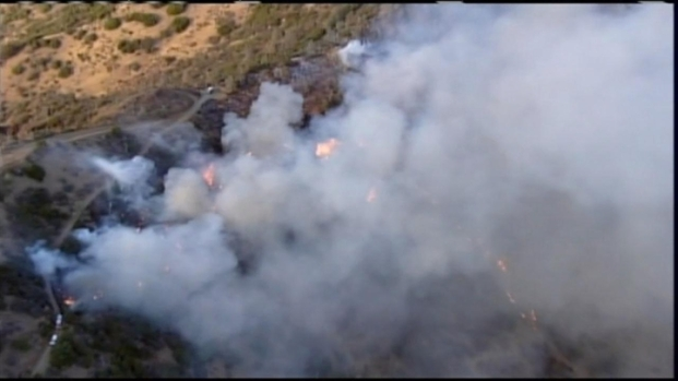[BAY] RAW VIDEO: Fire Near Mt. Diablo Grows to 800 Acres