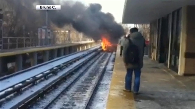 [NY] Car Catches Fire After Being Struck by LIRR Train