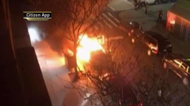 Passerby Throws Molotov Cocktail Into Occupied Truck: NYPD