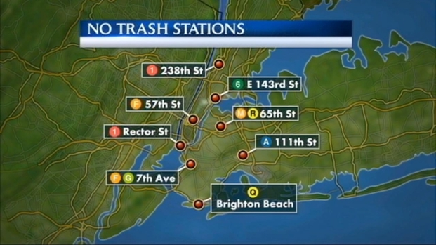 [NY] MTA Expands Plan to Remove Trash Bins in Subways