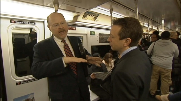 [NY] Web Exclusive: MTA Chairman on Train to LaGuardia