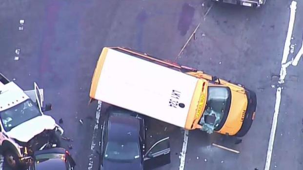 [NY] School Bus Crashes Just Off Triborough Bridge in Queens