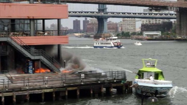 [NY] EXCLUSIVE: South Street Seaport Fire Video