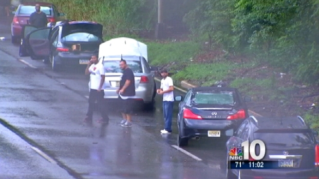 [PHI] Record-Breaking Rain Floods Area Roads