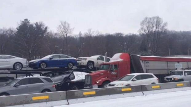 Tappan Zee Bridge Crash Sees Road Turned to Parking Lot
