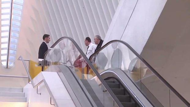 Escalator steps buckle at WTC transportation hub, 2 hurt