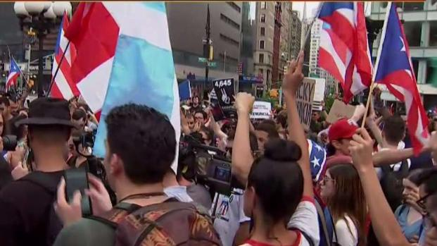 Union Square Rally Demands Puerto Rico Governor Resign