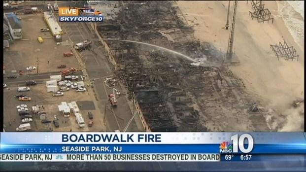 [PHI] Funtown Still Smoldering the Day After Boardwalk Fire